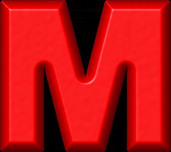 Presentation Alphabets Red Refrigerator Magnet M
