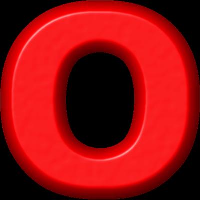 Presentation Alphabets: Red Refrigerator Magnet O