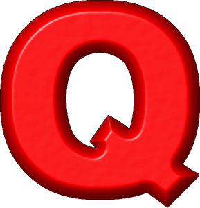 Presentation Alphabets Red Refrigerator Magnet Q