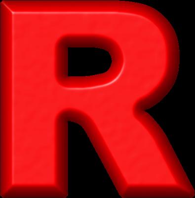 R Alphabet Name Presentation Alphabets: Red Refrigerator Magnet R