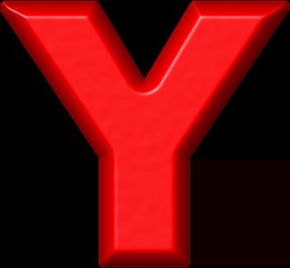 Presentation alphabet set red refrigerator magnet y