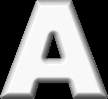 Presentation Alphabets: White Refrigerator Magnet A