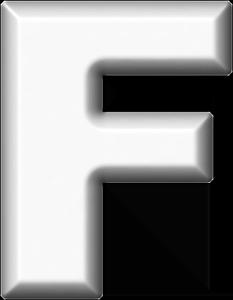 presentation alphabets white refrigerator magnet f