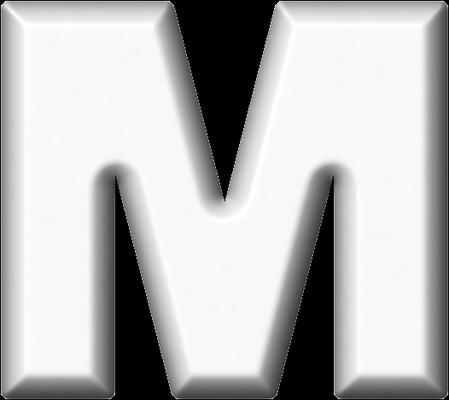 presentation alphabets white refrigerator magnet m With white letter m