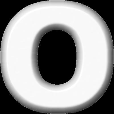 Presentation Alphabets White Refrigerator Magnet O