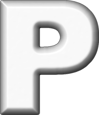 P Alphabet Letter Presentation Alphabets: White Refrigerator Magnet P
