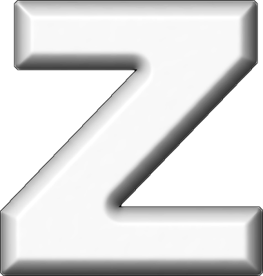 Presentation Alphabets White Refrigerator Magnet Z