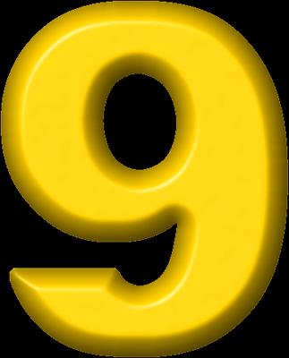 Magnets >> Presentation Alphabets: Yellow Refrigerator Magnet 9