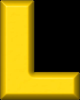 L Alphabet Letter Presentation Alphabets: Yellow Refrigerator Magnet L
