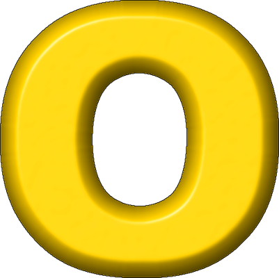 Presentation Alphabets: Yellow Refrigerator Magnet O