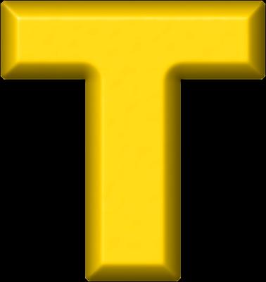 Presentation Alphabets Yellow Refrigerator Magnet T
