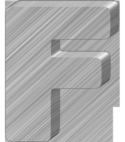 Lowercase blue letter f. Left tilt blue letter f, 3d... clip art ...