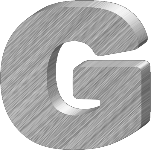Presentation Alphabets: Aluminum 3-D Letter G