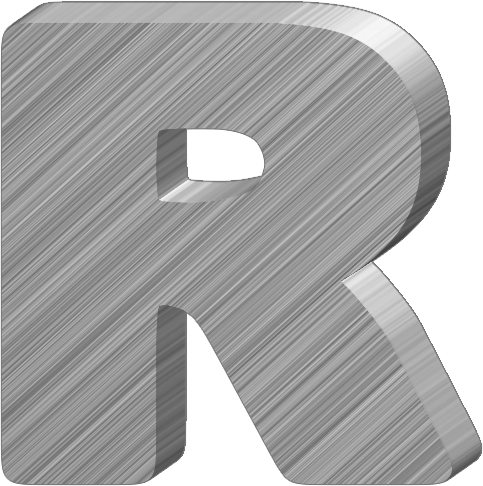 Presentation alphabets aluminum 3 d letter r thecheapjerseys Image collections