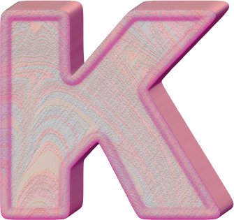 Presentation Alphabets: Birthday Cake Letter K