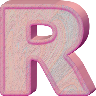Birthday Cake With Letter R