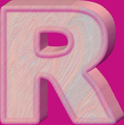 presentation alphabets birthday cake letter r