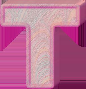 Presentation Alphabets: Birthday Cake Letter T