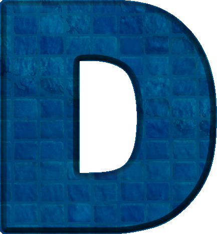 Presentation Alphabets: Blue Tile Letter D