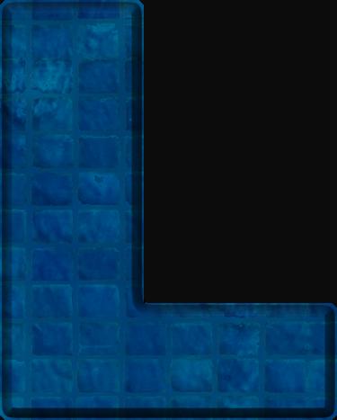L Alphabet Letter Presentation Alphabets: Blue Tile Letter L