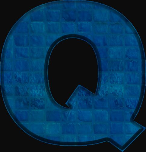 Colours Spec Q A Etc Etc: Presentation Alphabets: Blue Tile Letter Q