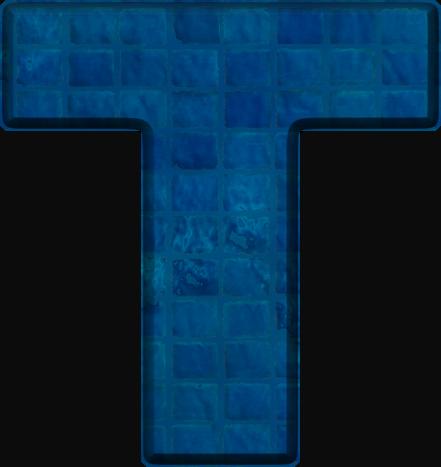 Presentation Alphabets: Blue Tile Letter T