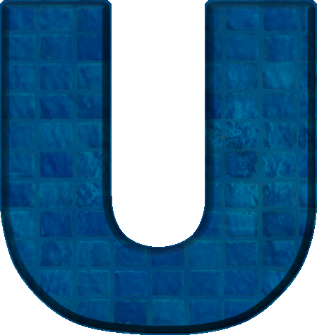 the letter u presentation alphabets blue tile letter u 25188 | U 400