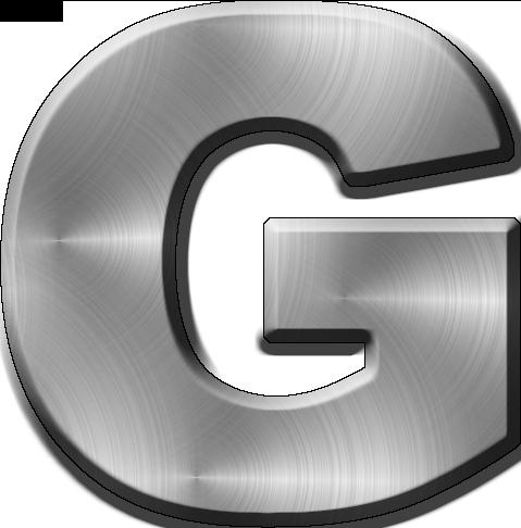 Metal Letter I Presentation Alphabets Brushed Metal Letter G