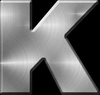 Presentation Alphabets Brushed Metal Letter K