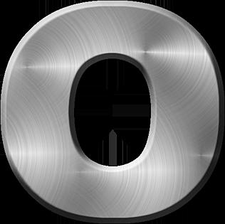 Presentation Alphabets Brushed Metal Letter O
