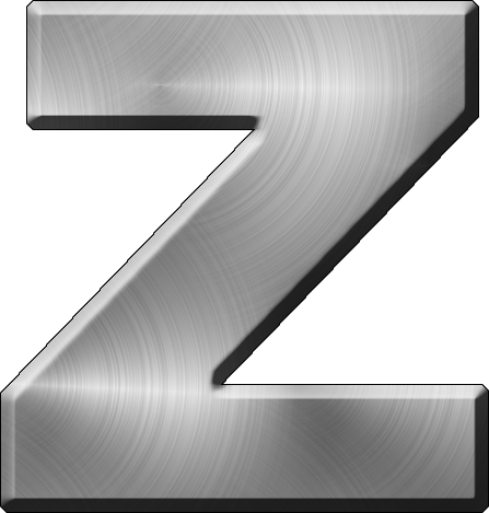Z Alphabet Letter Presentation Alphabets: Brushed Metal Letter Z
