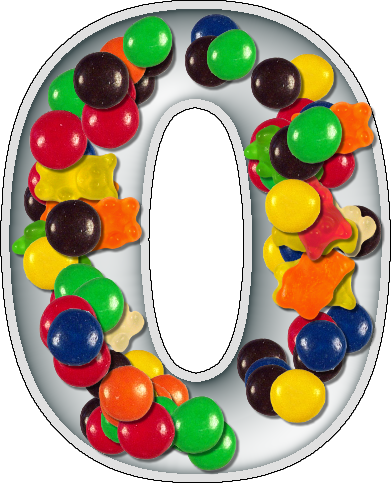 presentation alphabets candy dish numeral 0 With alphabet letter candy dishes