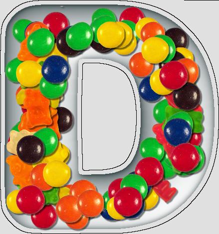 Presentation Alphabets: Candy Dish Letter D