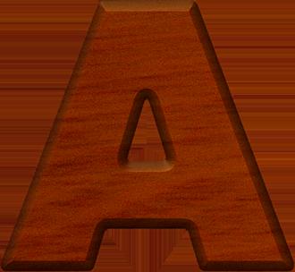 presentation alphabet set cherry wood letter a
