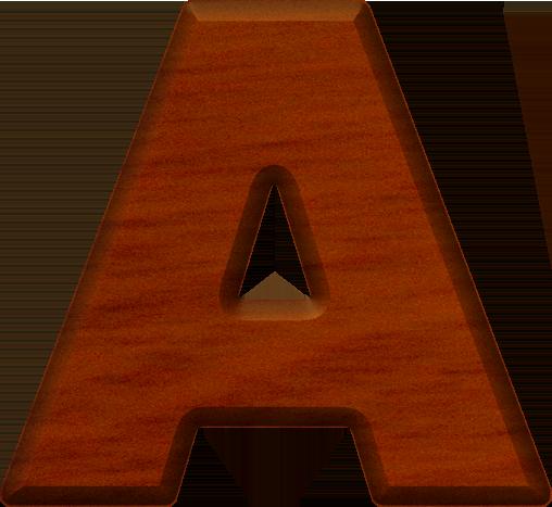 presentation alphabets cherry wood letter a. Black Bedroom Furniture Sets. Home Design Ideas