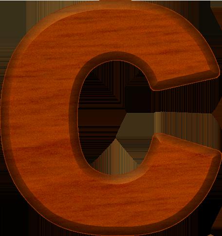 presentation alphabet set cherry wood letter c