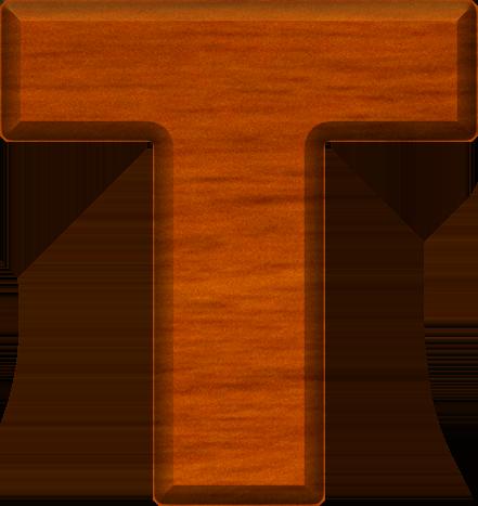 Presentation Alphabets: Cherry Wood Letter T