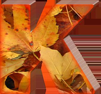 Presentation Alphabets: Fall Leaves Letter K