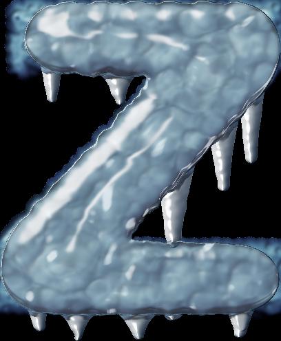 presentation alphabet set ice letter z