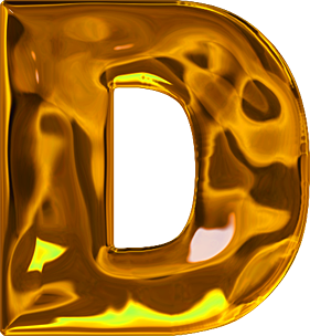 The Letter D In Gold
