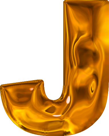 presentation alphabets lumpy gold letter j With gold letter j