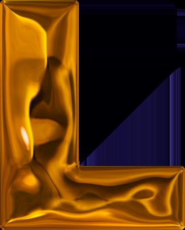 L Alphabet Letter Presentation Alphabets: Lumpy Gold Letter L