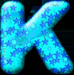 Presentation Alphabets: Party Balloon Cool Letter K