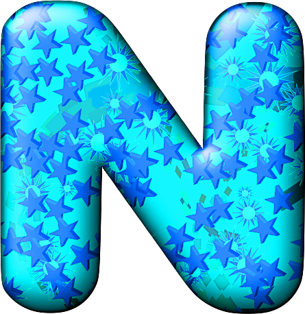 Presentation Alphabets: Party Balloon Cool Letter N