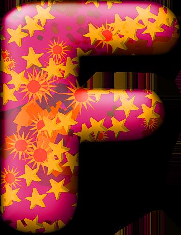 Presentation Alphabets Party Balloon Warm Letter F