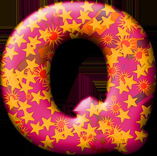 Presentation alphabets party balloon warm letter q