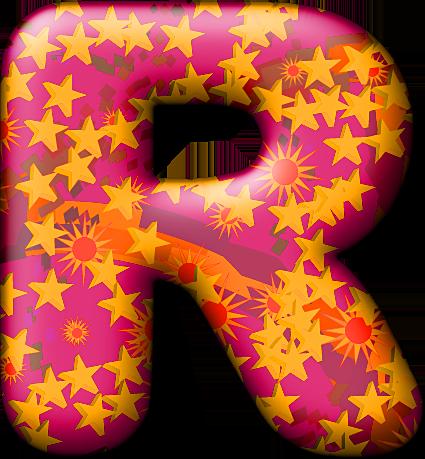 R Alphabet Letter Presentation Alphabets: Party Balloon Warm Letter R