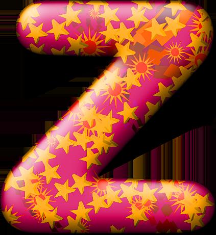 Z Alphabet Letter Presentation Alphabets: Party Balloon Warm Letter Z