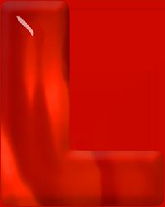 Presentation Alphabet Set: Red Glass Letter L