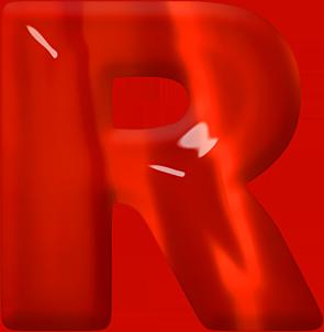 R Alphabet Name Presentation Alphabets: Red Glass Letter R